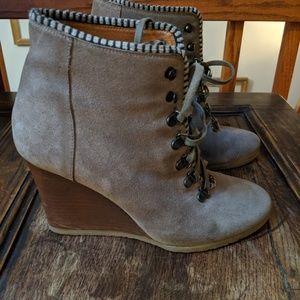 J.Crew wedge heel boots
